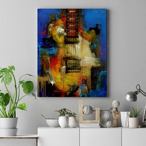 1bf3ba578 Quadro Decorativo Abstrato Guitarraa Sala ou Quarto Quadro Decorativo  Abstrato Guitarraa Sala ou Quarto
